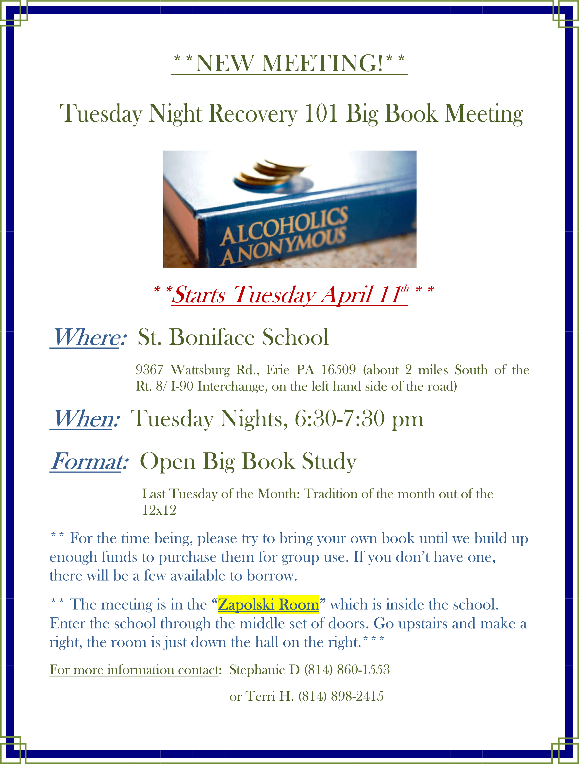 alcohol anonymous meetings Visit about aa to get started, and don't forget you can call us at any time at (202)   find meetings around me now  looking for a meeting outside the dc area.